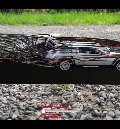 Delorean Back to the future - CFD in Augmented Reality