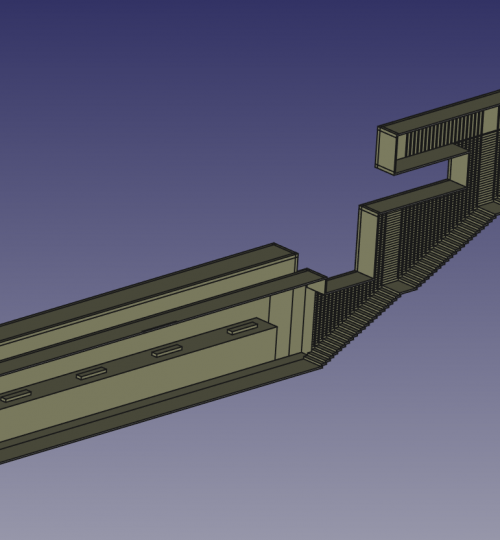 CAD of the Metro Station (FreeCAD)